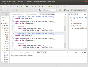 Plug-in Development - Test-src-Test-handlers-OpenHandler.java - Eclipse SDK _005