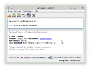 Using the LanguageTool standalone GUI to test new rules.