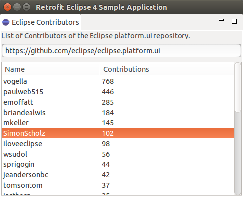 Retrofit and Eclipse 4