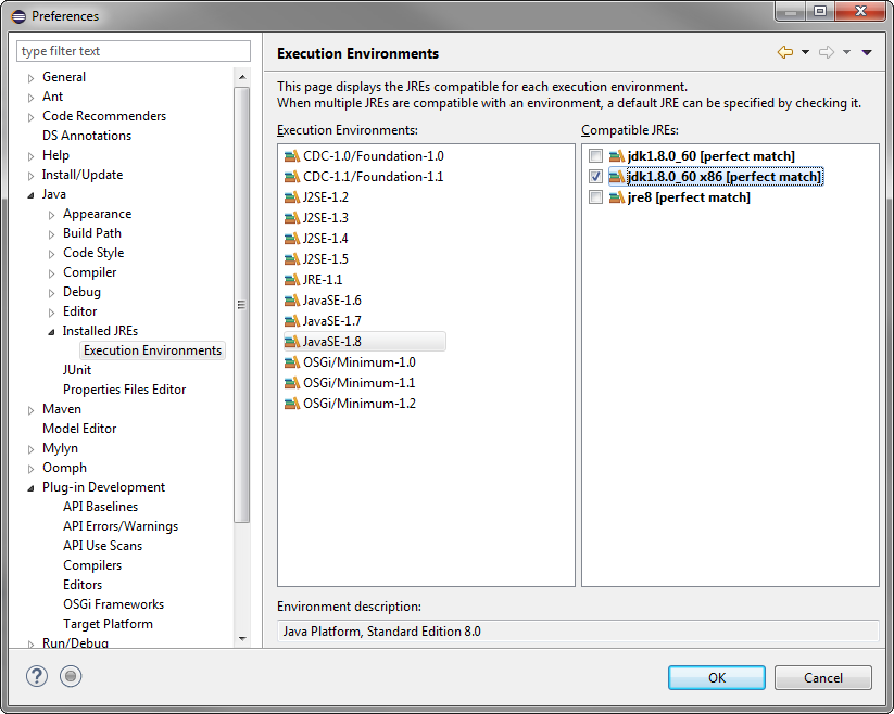 Run an Eclipse 32-bit application from a 64-bit Eclipse IDE